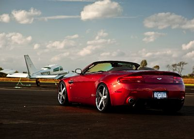 cars, vehicles, Aston Martin V8 Vantage, cabrio - desktop wallpaper