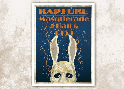 video games, BioShock, Rapture, masks, posters, bunny ears, masquerade - desktop wallpaper