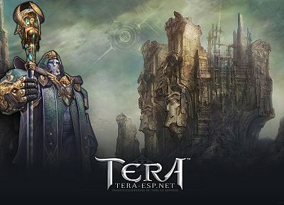 priest, Tera, MMORPG, male, Baraka, anime - related desktop wallpaper
