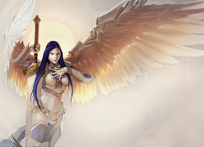 angels, Magic: The Gathering, angel wings, Akroma - random desktop wallpaper