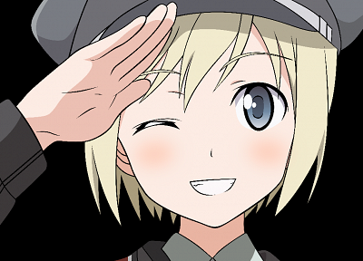 Strike Witches, transparent, Erica Hartmann, anime girls, anime vectors - related desktop wallpaper