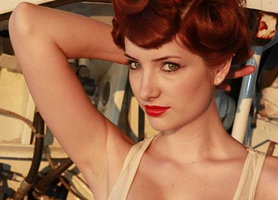 women, Susan Coffey, redheads, pinups - random desktop wallpaper