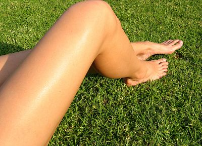 legs, white, feet, grass - related desktop wallpaper