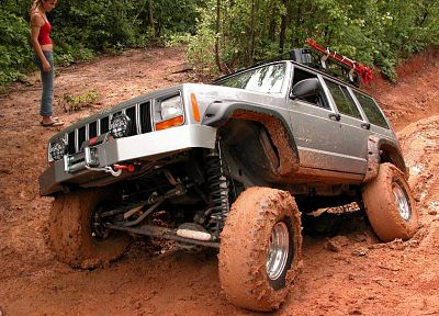 trail, mudvayne, mud, Jeep Cherokee, Jeep XJ - random desktop wallpaper
