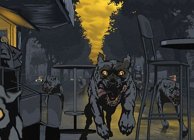 dogs, Waltz with Bashir, rabid - related desktop wallpaper