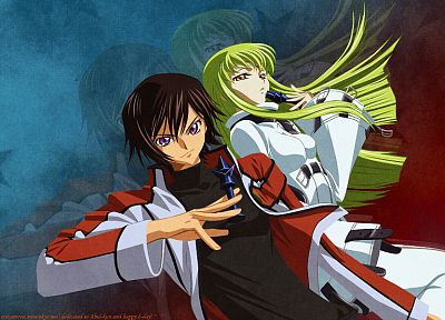 Code Geass, Lamperouge Lelouch, C.C. - random desktop wallpaper