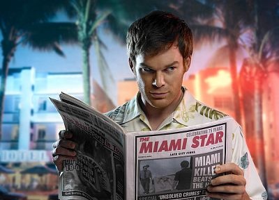 Dexter, Michael C. Hall, newspapers, Dexter Morgan - related desktop wallpaper