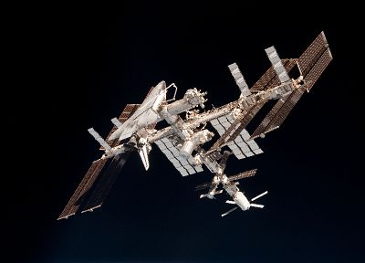 ISS, Space Shuttle, NASA, space station, endeavour - random desktop wallpaper
