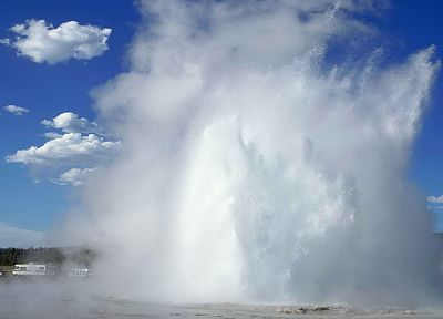 Wyoming, Yellowstone, National Park, fountain - random desktop wallpaper