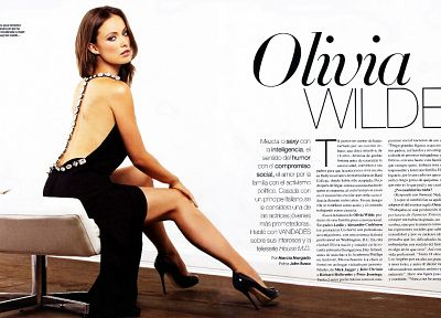 models, Olivia Wilde, high heels, Spanish, article, magazine scans - related desktop wallpaper