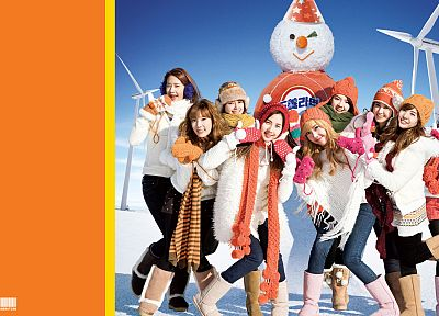 women, Girls Generation SNSD, celebrity, snowmen, Seohyun, singers, Jessica Jung, Kim Taeyeon, Kwon Yuri, Im YoonA, Kim Hyoyeon, Choi Sooyoung, Lee Soon Kyu, Tiffany Hwang - related desktop wallpaper