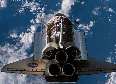rockets, Space Shuttle, Atlantis, NASA, vehicles, skyscapes - random desktop wallpaper