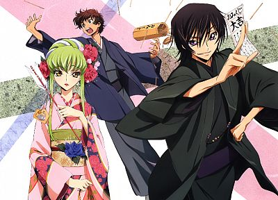 Code Geass, Kururugi Suzaku, Lamperouge Lelouch, C.C. - desktop wallpaper