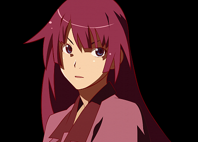 vectors, Bakemonogatari, transparent, Senjougahara Hitagi, anime girls - random desktop wallpaper