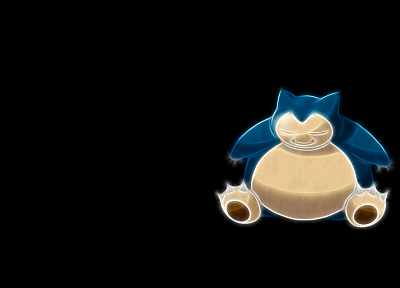 Pokemon, Snorlax, black background - desktop wallpaper
