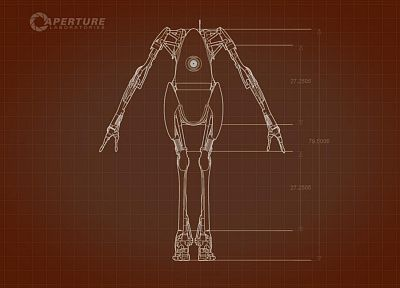 robots, Portal 2 - desktop wallpaper