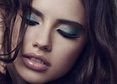 brunettes, women, Adriana Lima, faces, supermodels - desktop wallpaper
