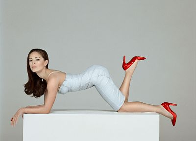 women, high heels, Kristin Kreuk - random desktop wallpaper