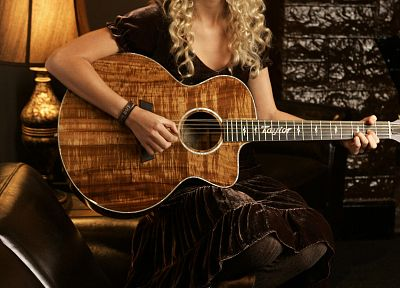 blondes, women, Taylor Swift, celebrity, guitars, singers - desktop wallpaper
