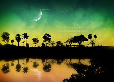 landscapes, Moon - random desktop wallpaper