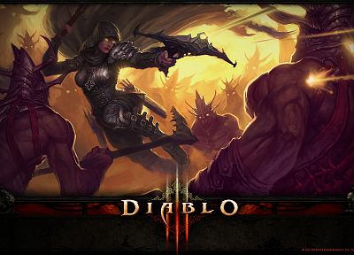 video games, fantasy art, Demon Hunter, Blizzard Entertainment, Diablo III - desktop wallpaper