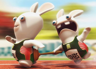 cartoons, Raving Rabbids - random desktop wallpaper