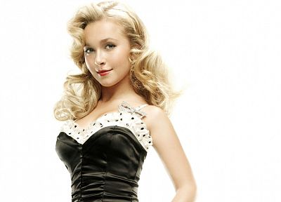blondes, women, actress, Hayden Panettiere, celebrity, simple background, white background - random desktop wallpaper