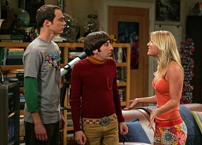 The Big Bang Theory (TV), Kaley Cuoco, Jim Parsons, Sheldon Cooper, Howard Wolowitz - random desktop wallpaper