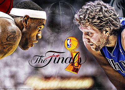 NBA, basketball, Lebron James, Dirk Nowitzki, Dallas Mavericks, Miami Heat - random desktop wallpaper