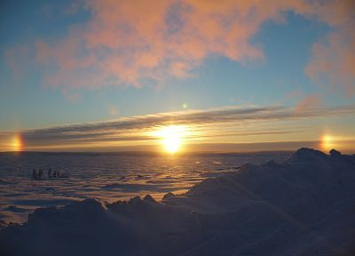 sunrise, landscapes, nature, snow, arctic - related desktop wallpaper