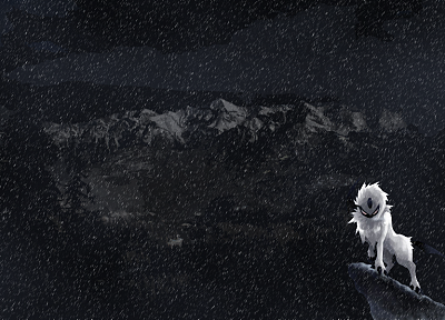 Pokemon, mountains, snow, Absol - random desktop wallpaper