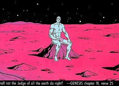 Watchmen, text, Mars, Dr. Manhattan - random desktop wallpaper