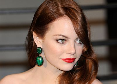 women, actress, celebrity, Emma Stone, earrings - desktop wallpaper