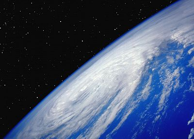 outer space, storm, Earth - desktop wallpaper