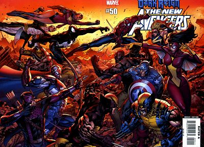 Iron Man, Venom, Spider-Man, Captain America, Wolverine, Marvel Comics, New Avengers, Dark Avengers, Secret Avengers - desktop wallpaper