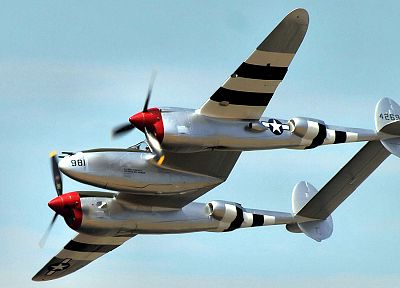 aircraft, P-38 Lightning - desktop wallpaper