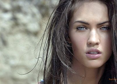 brunettes, women, Megan Fox, actress, celebrity, faces - random desktop wallpaper