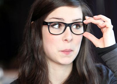 glasses, singers, Lena Meyer-Landrut, girls with glasses - desktop wallpaper