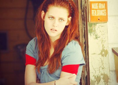 women, Kristen Stewart, actress, redheads - random desktop wallpaper