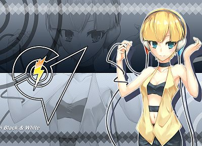 blondes, women, Pokemon, Kamitsure, Elesa, gym leaders - random desktop wallpaper