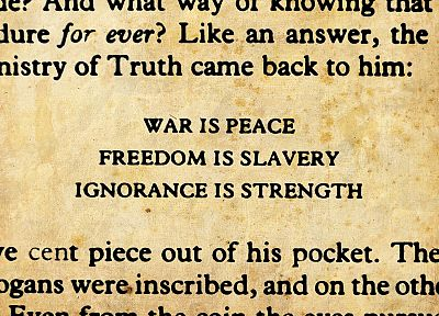 war, freedom, peace, 1984, George Orwell - random desktop wallpaper