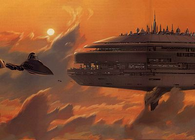 Star Wars, Bespin, Ralph McQuarrie - desktop wallpaper