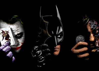 Batman, black, The Joker, Two-Face, The Dark Knight, Harvey Dent - random desktop wallpaper