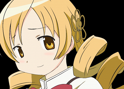 blondes, vectors, transparent, Mahou Shoujo Madoka Magica, Tomoe Mami, anime, golden eyes, anime girls, anime vectors - desktop wallpaper