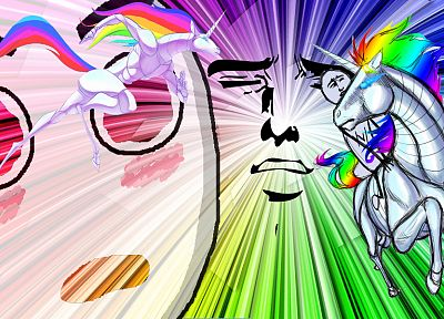 Internet, robot unicorn attack, rainbows, yaranaika - related desktop wallpaper
