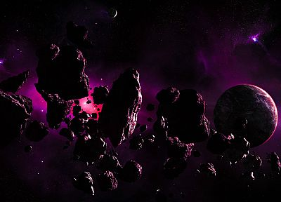 outer space, planets, astroid - related desktop wallpaper