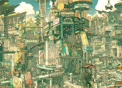 cityscapes, futuristic, artwork - random desktop wallpaper