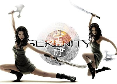 Serenity, movies, Summer Glau, Firefly, River Tam, simple background, white background - desktop wallpaper