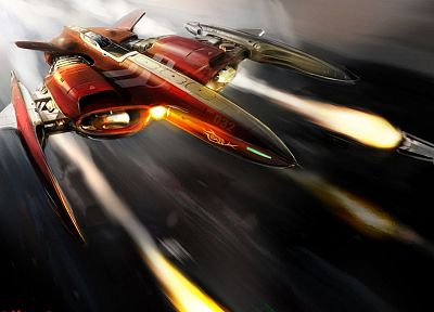 spaceships, artwork, vehicles - random desktop wallpaper