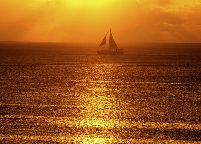 ships, sunlight, sailboats, waterscapes, sea - desktop wallpaper